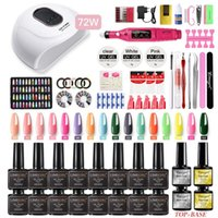 Manicure Set With UV Led Nail Lamp 72W Gel Varnish 16 Color ...