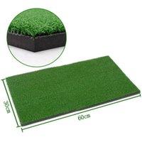 Golf Eğitim Yardımları Portablel 60x30 cm Ev Ofis Uygulama Mat Yapay Konut Yardım Ekipmanları Mini Vuruş Staj