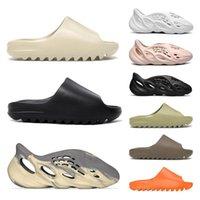 Toptan 2021 Kanye Batı Terlik Erkekler Kadınlar Slayt Kemik Dünya Kahverengi Çöl Kum Reçine Moda Ayakkabı Sandalet Köpük Koşucu Eğitmenler
