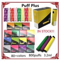 퍼프 플러스 xxl ezisable 일회용 vape 펜 전자 담배 800 1600 5200 퍼프 80 + 색상 3.2ml 포드 550mAh 배터리 도매 vapes