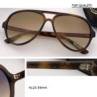 Aviation TR90 Cadre Qualité 59mm Taille pour hommes Pêche Lunettes de soleil 4125 Design Driver Goggles Sun Lunettes de soleil