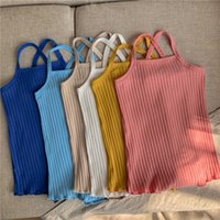 kids Rompers girls boys Knitted Sling romper infant toddler Solid color Pit stripe Jumpsuits summer fashion Boutique baby clothes Z3277