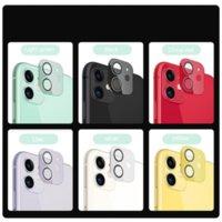 9D Kamera Lens Koruyucu Renkli Koruyucu Film Ekranı Temperli Cam Iphone 11 12Pro Max Arka Kapak