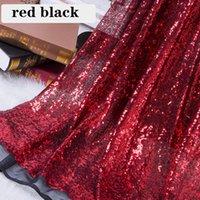 Tela de mesa B · Y Tela de lentejuelas negras rojas para vestir por el patio 92x125cm Ropa Fiesta de la escena fiesta de la boda Decoración del hogar