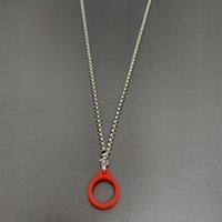 カラフルな金属チェーン80cmのネックレスの携帯用蒸気ポッドキットパフバープラスバンXXLエアバーECIGペンのシリコーンOリング