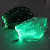 LED Maske PM2.5 ile Parlayan Maske Filtre Aydınlık LED Yüz Maskeleri Düğün Parti Cadılar Bayramı Noel Glow Maskeleri HWD7047