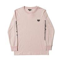 티셔츠 18FW 힙합 Kanye 웨스트 시즌 6 남성 여성 대형 긴 소매 티셔츠 패션 일본 면화 자수 티스 스트리트웨어