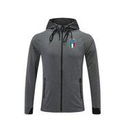 2021 İtalya Şık Koşu Spor erkek Ceketler İlkbahar Sonbahar Kış Sıkıştırılmış Kapşonlu Polar Ceket Erkekler Cep Ile