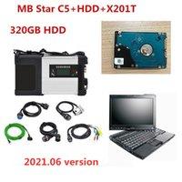 Yeni MB Yıldız C5 SD Connect C5 2021.06 Araba Teşhis Aracı HDD Xentry DTS Yazılımı ile Laptop X201T I7 OBD2 Tarayıcı Mercedes Benz için