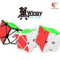 Qiyi X-Man Wingy Skew Cube Mofangge X-Hombre Magnético Skew Speed Cube Qiyi X-Man Wingy Magnetic 3x3 Puzzle Cube Skewed