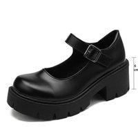 2021 En Kaliteli Sonbahar Çizmeler Kadın Platformu Ayakkabı Düşmek Topuk Tıknaz Sneakers Siyah Punk Çizmeler Ayakkabı Yüksekliği Artan Botas de Mujer
