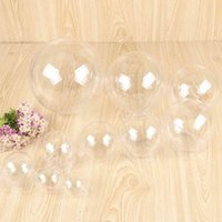 Christmas Ornaments High Transparent Balls Sphere Round Plastic Hanging Hollow Ball Wedding Party Candy Packaging Flower Gift Box VT1788