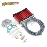 Motorcycle Cooler Cooler CNC Universal CNC Aluminio Radiador Kit de enfriamiento para 50cc 110cc 125cc 140cc 150cc ATV Asamblea
