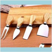 Other Kitchen Kitchen, Dining Bar Home & Gardencheese Tools Set Butter Pizza Slicer Cutter Oak Handle Knife Fork Shovel Kit Graters For Cutt