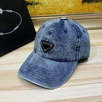 Moda Luxurys Beyzbol Kap Şapka Denim Yıkanmış Tasarımcılar Kapaklar Şapka Erkek Meşgul Caps Kadınlar Yüksek Kaliteli Spor Rahat Sandy Beach 21042302SX