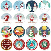 Christmas Ornament Stickers Roll Sticker for Party Supply Classroom Decoration Envelopes Sealing Stickers 500 pcs Xmas Santa Claus Stickers for Kids