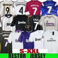 Finais Real Madrid Retro Soccer Jersey Guti Seedorf Carlos 13 14 15 16 Ronaldo Zidane Beckham Raul Redondo 94 95 96 97 98 99 00 01 02 03 04 05 07 Hierro Figo
