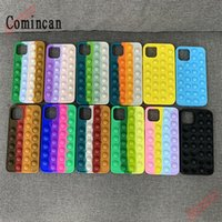 New CellPhone Cases Fidget push Bubble Relive Stress Silicone Cover case For New iPhone 7 8 Plus X XR 11 12 Pro Max Antistress Game Kid