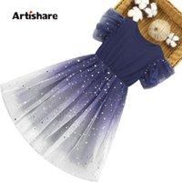 여자를위한 여름 드레스 메쉬 가격 소녀 스팽글 어린이 귀여운 스타일 의상 6 8 10 12 14 소녀의 드레스