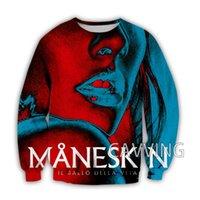 Men's Hoodies & Sweatshirts Fashion Women Men's 3D Print Maneskin Band Crewneck Harajuku Styles Tops Long Sleeve