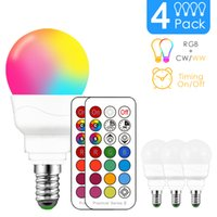 RGBW LED Light Bulb E14 Infrared controller Smart Bulb Lamp Multicolor Dimmable Color Changing LED Night Light AC 110V 220V