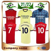 Arsen 21/22 Gunners Home Soccer Jersey 2021 Pepe Nicolas Ceballos Henry Guedouzi Smith Rowe Willian Tierney Odegaard Saka Thomas Football Shirt Kit Kit Uniformes