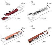 Wine Opener Stainless Steel Cork Screw Corkscrew Multi Function Bottle Opener Knife Pulltap Double Hinged Corkscrew Christmas BWD7050