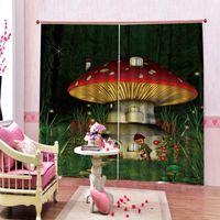 Tenda tenda Drappa Funny Cartoon Wonderland Mushroom Casa per bambini Doccia per bambini