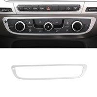 Pour Audi Q7 4M 2016-2020 ACCESSOIRES DE VOITURE CENTRE DE COMMANDE DE CONTRÔLE A / C Panneau Cadre Cadre Sticker Couvercle Décoration d'intérieur Moulage en argent