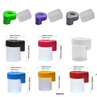LED Saklama Kutusu Büyüteç Stash Kavanoz Plastik Cam Görüntüleme Konteyner 155 ml Vakum Mag Kavanoz Sızdırmazlık Durumda Kuru Herb Şişe DWF6240