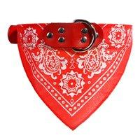 Cuello de perro plomo ajustable perro mascota gato bufanda bandana collares cuello nuevo mezcla colores collares de perro 441 v2