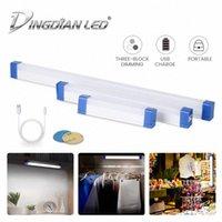 Lumière de pêche portable USB USB rechargeable LED Bar de la carpe de la carpe de pêche à la pêche LED lampe de camping pour tente avec crochet d8ug #