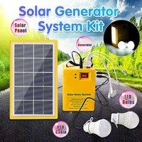 Lâmpadas solares 5V carregador USB Home System Power painel gerador bateria +3 lâmpadas LED luz de emergência indoor iluminação exterior