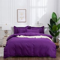 Bedding Sets Solid Color Adult Child Bed Cover Set Duvet With Pillowcases Girl Boy Bedclothes Comforter Home Decor 61131