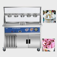 Ice Cream Making Machine 35cm Pan Fried Roll 2021 Design Automatic Fry Icecream