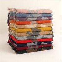 2021 Korean version of the new Birds scarves women's winter plaid scarf cashmere warm tassel shawl thickened scarf