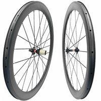 عجلات الدراجة الكربون الطريق العجلات 700C 45 ملليمتر الفاصلة 25 ملليمتر عرض عجلة novatec hubs 3K UD 20H 24H