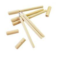 Ballpoint Pens 30 PCS / LOT Lindo Kawaii Pluma de madera Simple Style Style Ball Office Supplies Wholesale1