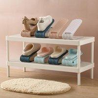 Clothing & Wardrobe Storage Space-saving Shoe Rack Double-layer Bracket Cabinet Household Organize Shoes Slippers