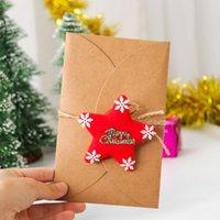 Cartões Envelope decorativo do brinquedo de pelúcia DIY para Chirstmas Cartão do cartão de mensagem 12 peças suprimentos do feriado