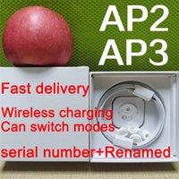 أعلى جودة الهواء الجنرال 3 AP3 سماعات TWS H1 رقاقة اللاسلكية شحن سماعات بلوتوث القرون AP2 2nd إعادة تسمية GPS ل airpods iphone 12 برو ماكس xiaomi تسليم سريع