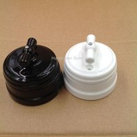 Smart Home Control 2pcs EU Ceramic Knob Switch Outdoor Lighting High Quality Wall Lamp 10A