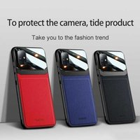 Leather Phone Cases Protective Dermatoglyph Camera Case Cover For iPhone 12 11 Pro Max XS XR x 8 Plus Samsung A51 A71