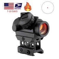 1 x 25mm 빨간 도트 범위 2 Moa 소형 스코프 리플렉스 시력 1 인치 라이저 마운트가있는 미니 라이플 광경