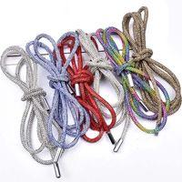 2021 Full Rhinestone DIY Drawstring Trousers Rope Cap RopeS Rainbow Shoelace Bling Belt Bowknot Lazy Elastic Shoelaces Clothing Accessories