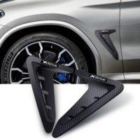 X3 F25 G01 G02 x4 XDrive 윙 사이드 스티커 자동차 에어 벤트 스티커 커버에 대한 상어 윙 사이드 펜더 스티커