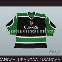 Broderie Guinness Mars Irish Stout Bière St Patricks Jersey Black Hockey Jersey Personnalisé Toute nom Numéro