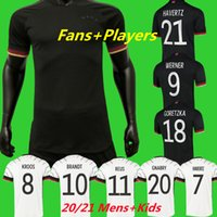 2021 Spielerversion Deutschland Allemagne Fussball Trikots Fans Hummel Kroos Fußball Hemd 20 21 Sane REUS JERSEY MULLER HAVERTZ WERMER CAMISAS ALEMANIA MEN + KINDER KITS