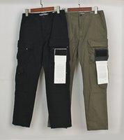 Pantalons d'étiquette latérale de Topstoney Compas 21SS Quatre sacs de la fonction de lavage Fonction Casual Logen luxurys Designers Pant Pantalon de rue occasionnel