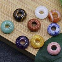 8 * 14mm pedra de cristal grande buraco beads diy pan jia zhou corda mão tecida tecida acessórios materiais